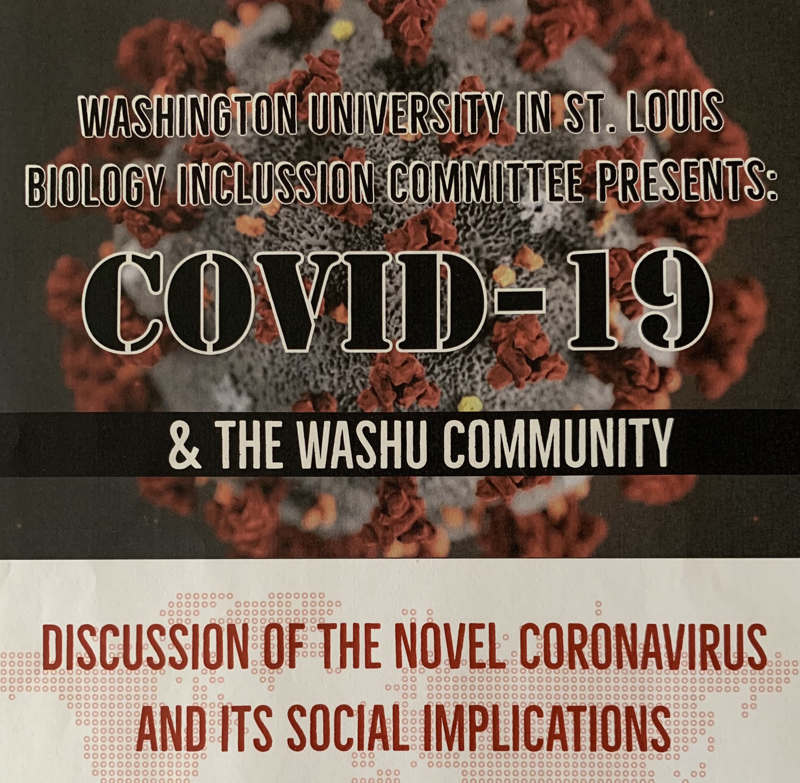 Poster for the event created by BIOL 4195 Disease Ecology students