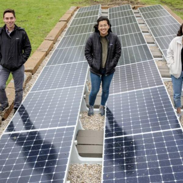 Expanding solar power at Tyson Research Center: Three McKelvey School of Engineering students design sustainable power system for Tyson